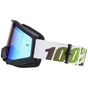 100% The Strata Goggle black-lime/anti fog mirror